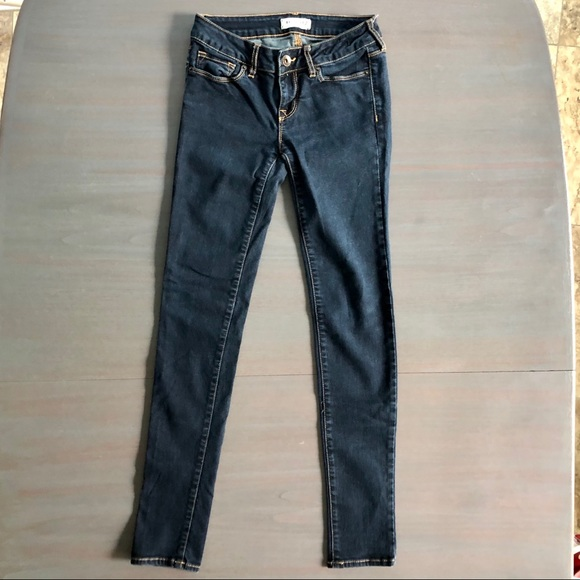 Bullhead Pants - Bullhead Dark Wash Skinny Jeans - 1